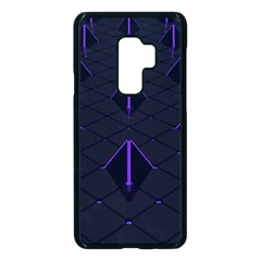 Futuristic Pyramids Perspective Samsung Galaxy S9 Plus Seamless Case(black)