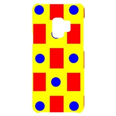 Pattern Design Backdrop Red Blue Yellow Samsung S9 Black Uv Print Case by Pakrebo