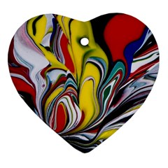 Abstract Colorful Illusion Heart Ornament (two Sides)