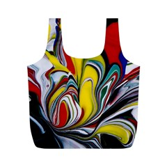Abstract Colorful Illusion Full Print Recycle Bag (m)