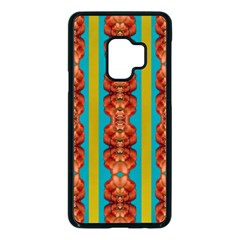Love For The Fantasy Flowers With Happy Joy Samsung Galaxy S9 Seamless Case(black) by pepitasart