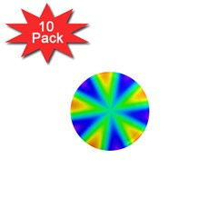 Rainbow Colour Bright Background 1  Mini Magnet (10 Pack)