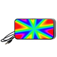 Rainbow Colour Bright Background Portable Speaker