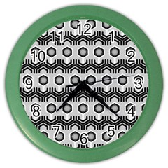 Pattern Abstractstyle Seamless Color Wall Clock