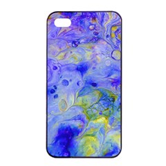 Abstract Blue Iphone 4/4s Seamless Case (black)