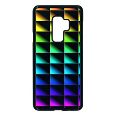 Rainbow Colour Bright Background Samsung Galaxy S9 Plus Seamless Case(black) by Pakrebo