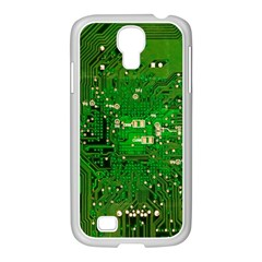 Background Green Board Business Samsung Galaxy S4 I9500/ I9505 Case (white)