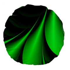 Green Line Lines Background Large 18  Premium Flano Round Cushions by Pakrebo