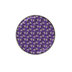 Daisy Purple Hat Clip Ball Marker (10 Pack) by snowwhitegirl