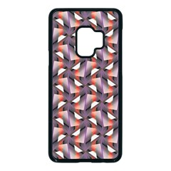 Pattern Abstract Fabric Wallpaper Samsung Galaxy S9 Seamless Case(black)