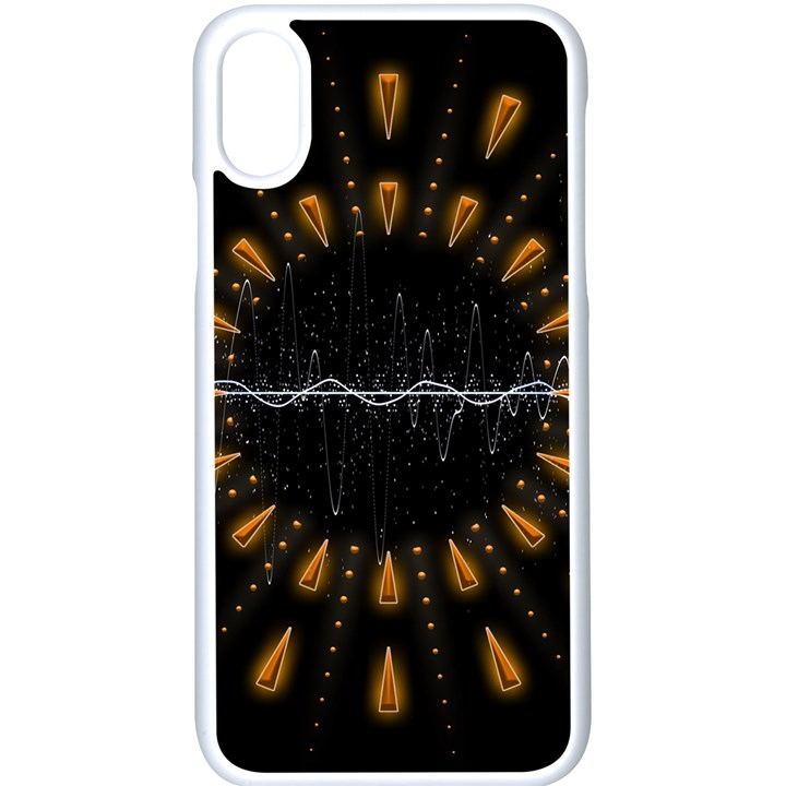 Background Pattern Bright Graphic iPhone XS Seamless Case (White)