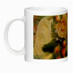 Ackground Flowers Colorful Night Luminous Mugs