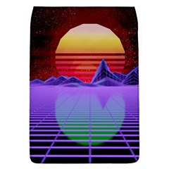 Synthwave Retrowave Synth Removable Flap Cover (l) by Pakrebo