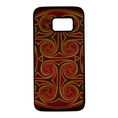 Celtic Spiritual Pattern Art Samsung Galaxy S7 Black Seamless Case by Pakrebo