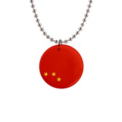 Chinese Flag Flag Of China 1  Button Necklace by FlagGallery