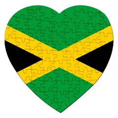 Jamaica Flag Jigsaw Puzzle (heart) by FlagGallery