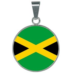 Jamaica Flag 25mm Round Necklace by FlagGallery