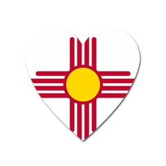 New Mexico Flag Heart Magnet by FlagGallery
