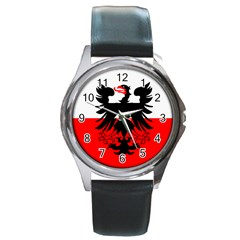 Flag Of Deventer  Round Metal Watch by abbeyz71