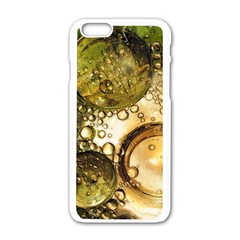 Bubbles Fantasy Green Design Iphone 6/6s White Enamel Case