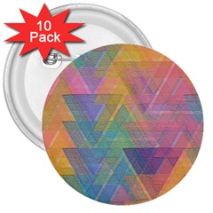 Triangle Pattern Mosaic Shape 3  Buttons (10 Pack)