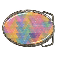 Triangle Pattern Mosaic Shape Belt Buckles by Pakrebo