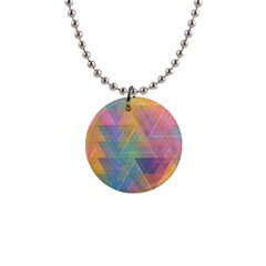 Triangle Pattern Mosaic Shape 1  Button Necklace by Pakrebo