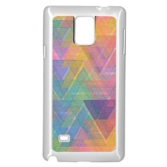 Triangle Pattern Mosaic Shape Samsung Galaxy Note 4 Case (white)