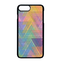 Triangle Pattern Mosaic Shape Iphone 8 Plus Seamless Case (black)