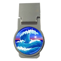 Japanese Wave Japanese Ocean Waves Money Clips (round)
