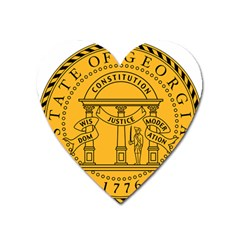 Seal Of Georgia Heart Magnet by abbeyz71