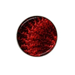 Red Abstract Fractal Background Hat Clip Ball Marker (10 Pack)