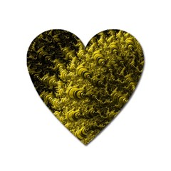Rich Yellow Digital Abstract Heart Magnet by Pakrebo