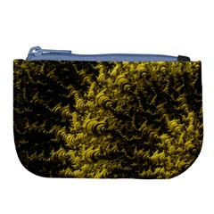 Rich Yellow Digital Abstract Large Coin Purse