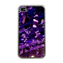 Light Violet Purple Technology Iphone 4 Case (clear)
