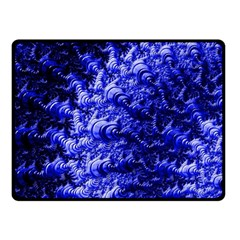 Rich Blue Digital Abstract Fleece Blanket (small)