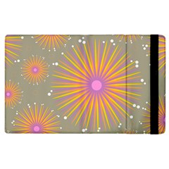Background Floral Non Seamless Apple Ipad 2 Flip Case by Pakrebo