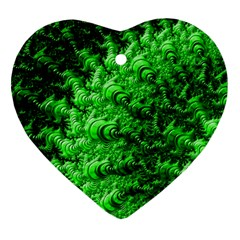 Green Abstract Fractal Background Ornament (heart)