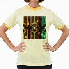 Background Colors Abstract Women s Fitted Ringer T Shirt