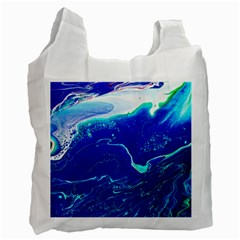 Paint Acrylic Paint Art Painting Blue Recycle Bag (one Side) by Pakrebo