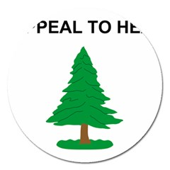Appeal To Heaven Flag Magnet 5  (round)