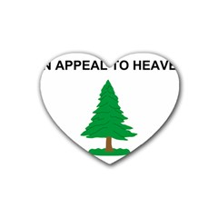 Appeal To Heaven Flag Rubber Coaster (heart)  by abbeyz71