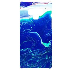 Paint Acrylic Paint Art Painting Blue Samsung Note 9 Black Uv Print Case  by Pakrebo