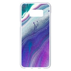 Color Acrylic Paint Art Painting Samsung Galaxy S8 Plus White Seamless Case