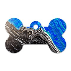 Paint Acrylic Paint Art Colorful Dog Tag Bone (one Side)
