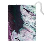 Color Acrylic Paint Art Painting Drawstring Pouch (XXL) Front