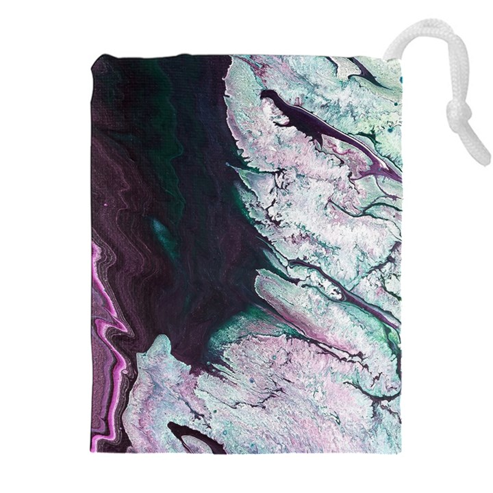 Color Acrylic Paint Art Painting Drawstring Pouch (XXL)