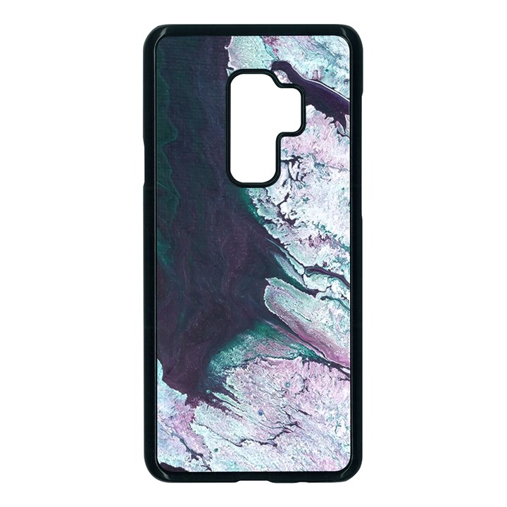 Color Acrylic Paint Art Painting Samsung Galaxy S9 Plus Seamless Case(Black)