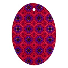 Retro Abstract Boho Unique Ornament (oval)
