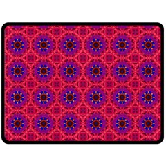 Retro Abstract Boho Unique Double Sided Fleece Blanket (large)